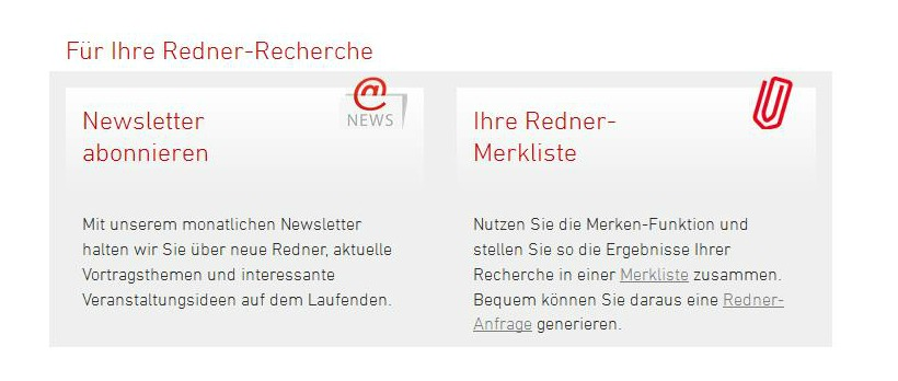 ECON Referenten-Agentur Website -Relaunch Redner-Recherche