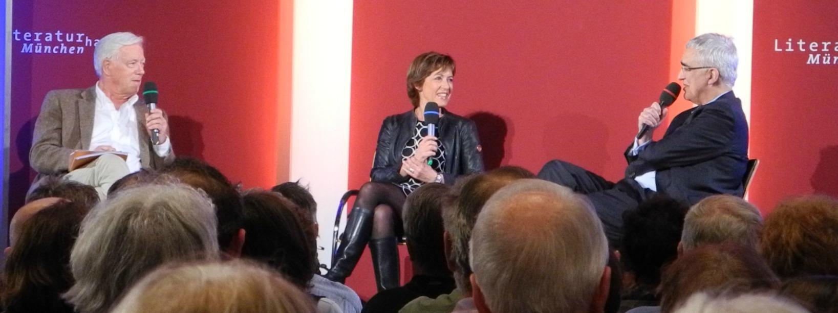 ECON Redner Ursula Heller diskutiert mit Thilo Bode und Nikolaus Piper über TTIP