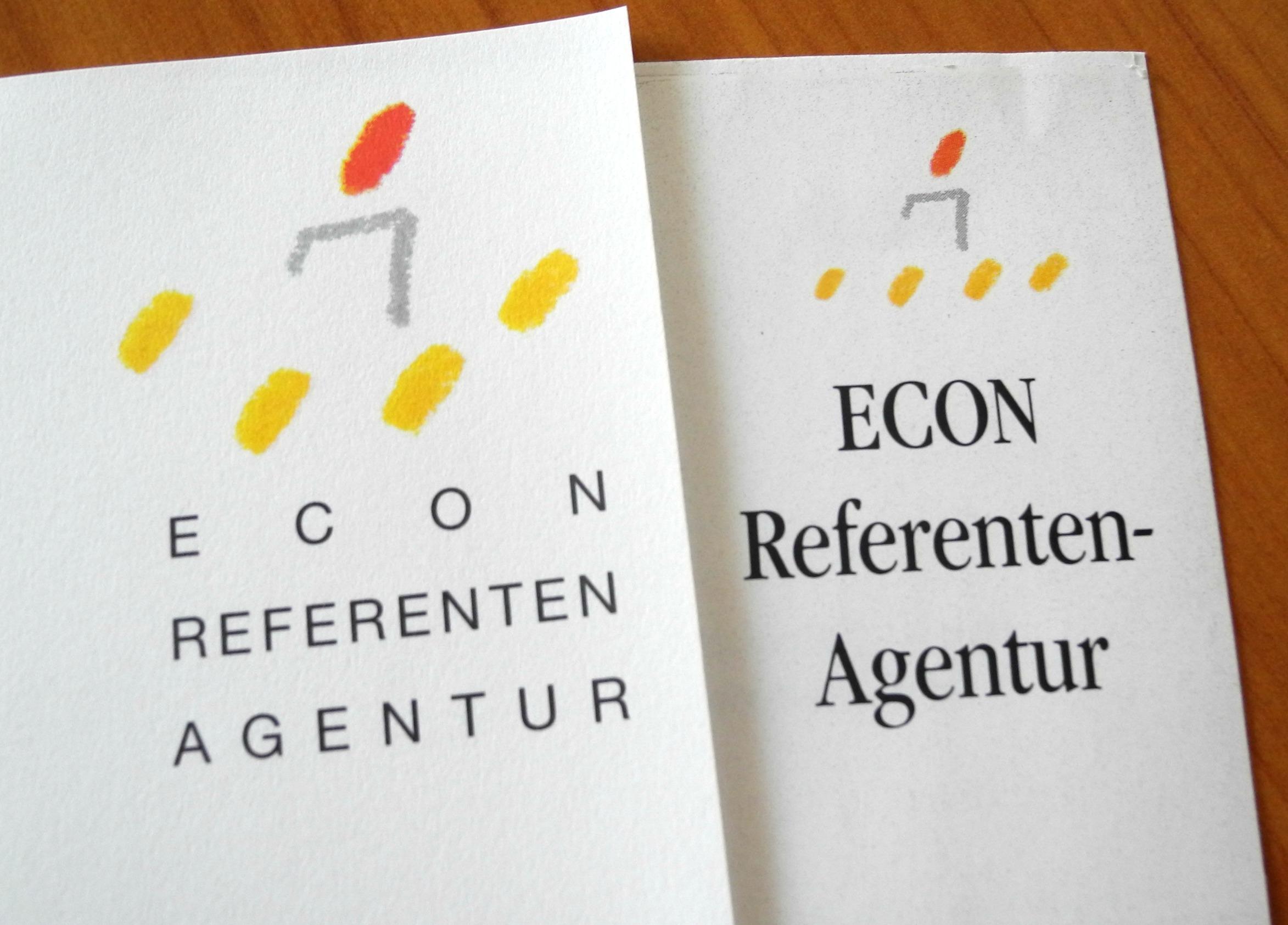 Alte Logos der Econ Referenten Agentur