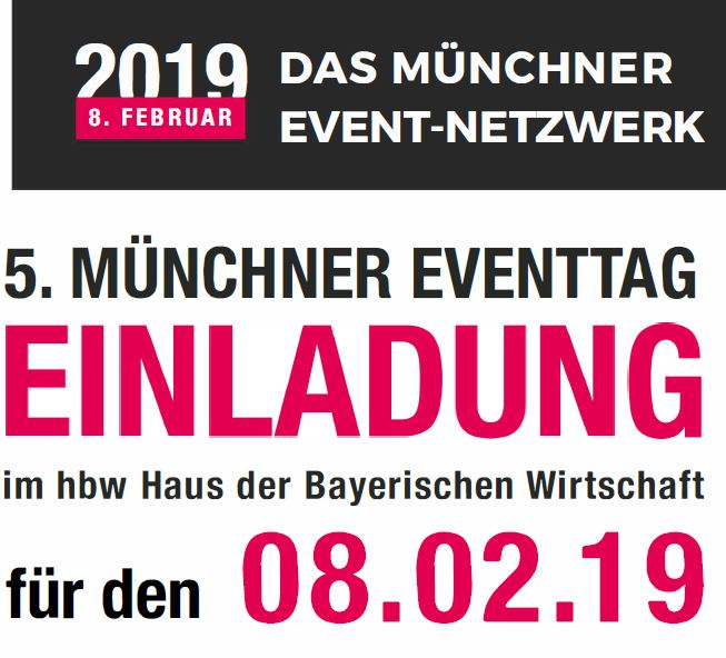 Einladung Münchner Eventtag