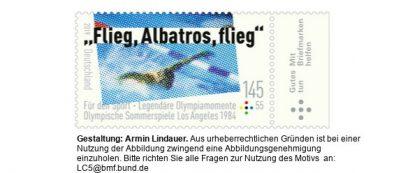 Sonderbriefmarke Michael Gross Flieg Albatros flieg
