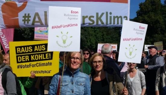 Econ Referenten-Agentur beim Klimastreik