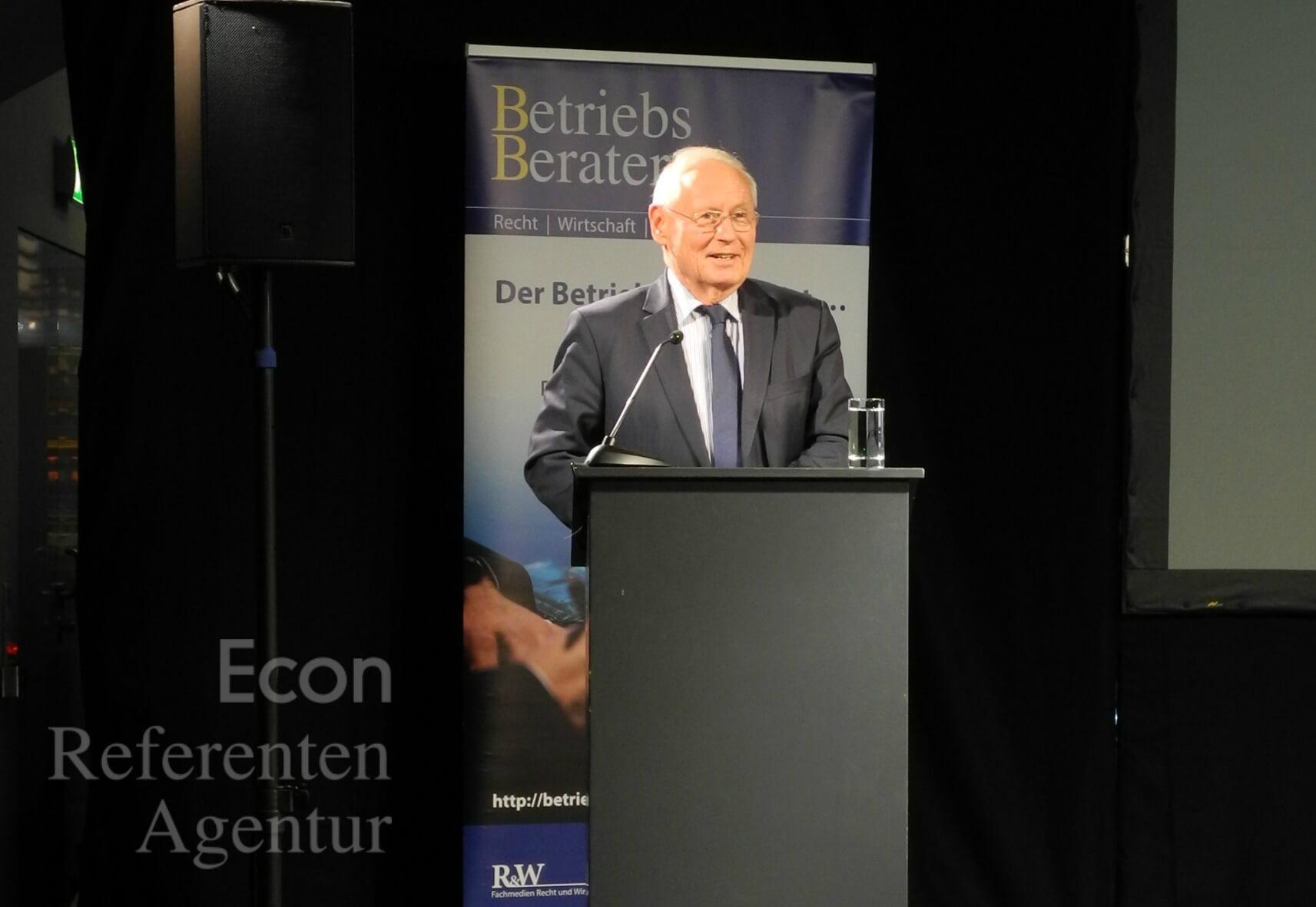 Vortrag von ECON Redner Oskar Lafontaine Vortrag Arbeitsrechtskonferenz 07.11.2019