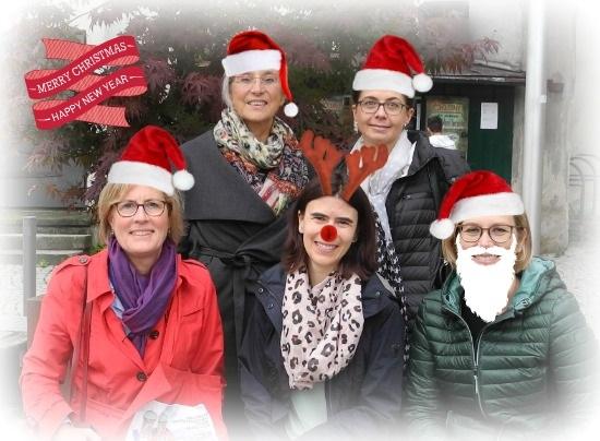 Econ Referenten-Agentur Teamfoto Weihnachten 2019