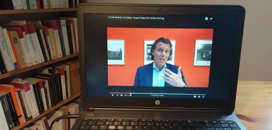 Econ-Redner Urs Meier beim Online-Vortrag