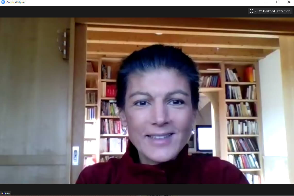 Econ Redner Sahra Wagenknechts Online Vortrag