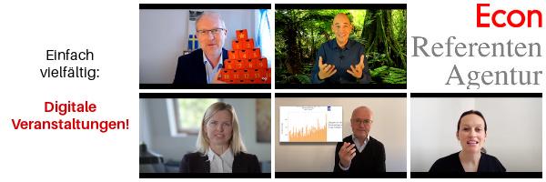 ECON Referenten-Agentur Unsere besten Tipps fuer digitale Veranstaltungen