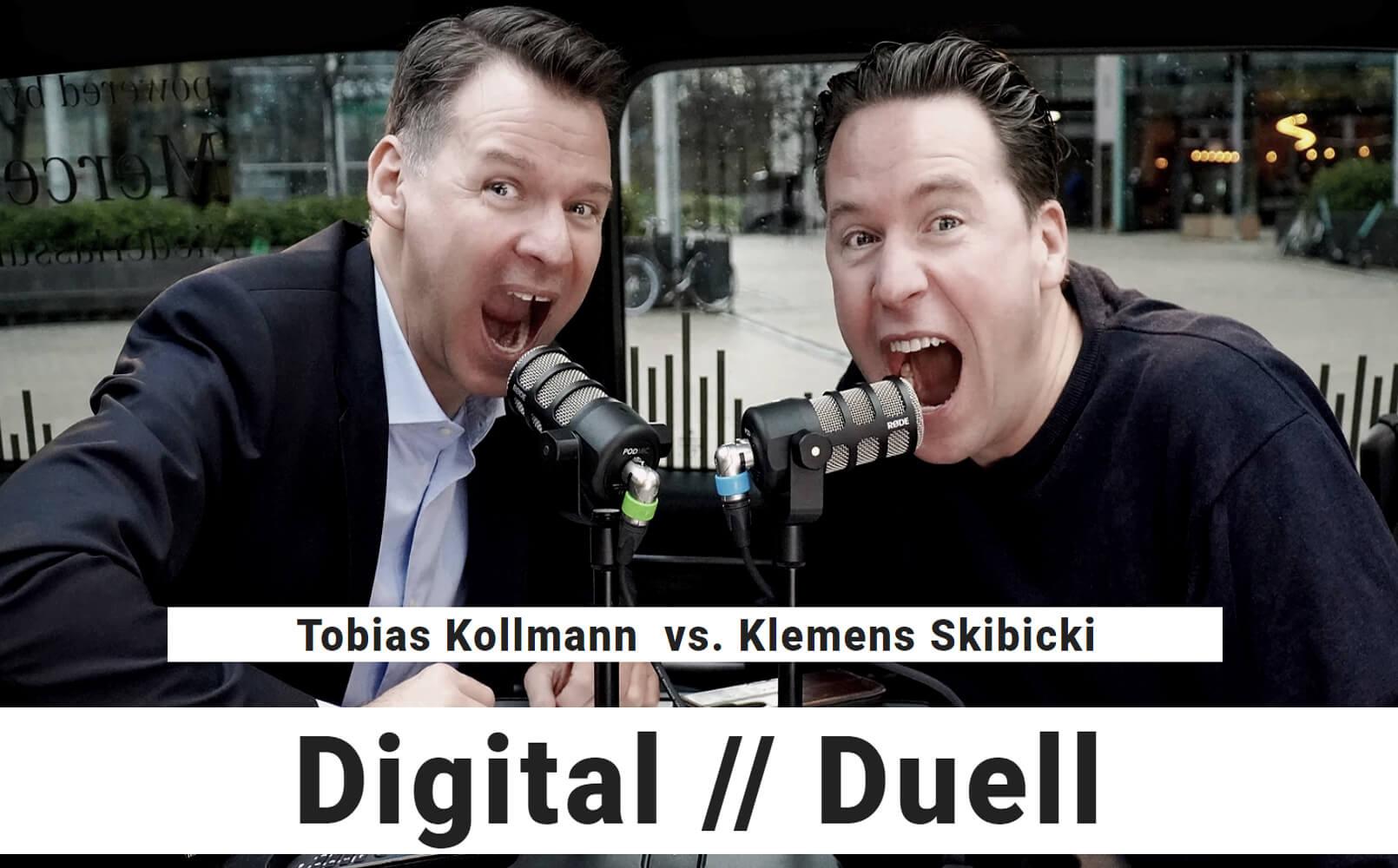 ECON Redner Tobias Kollmann und Klemens Skibicki beim Digitalen Duell