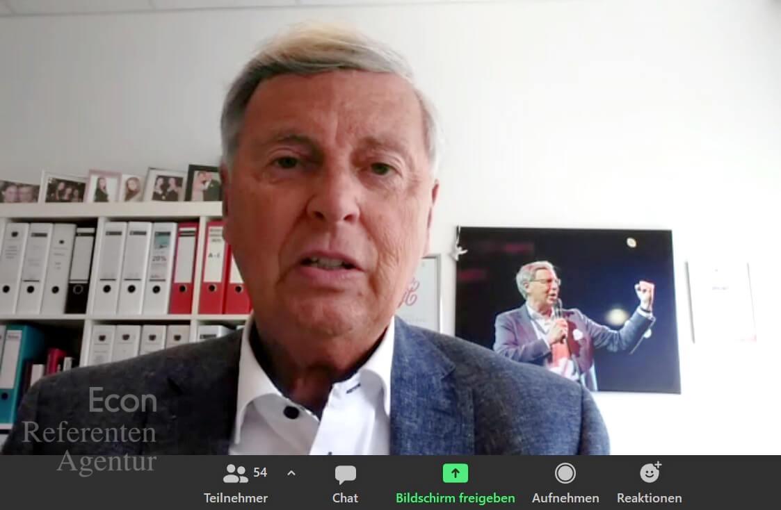 ECON Redner Wolfgang Bosbach Vortrag Mehr Sicherheit in unsicheren Zeiten am 15.05.21