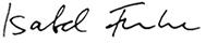 Unterschrift Isabel Funke